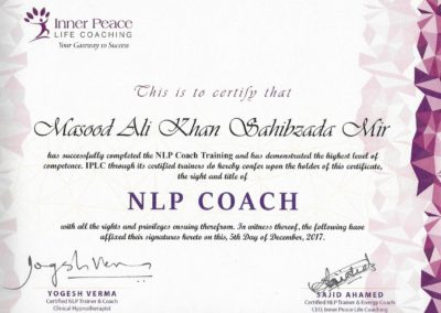 IPLC NLP Coach Certificate