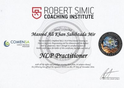 RSCI NLP Practitioner Certificate