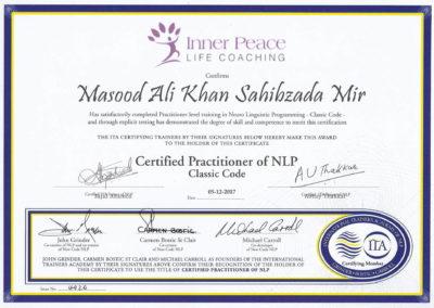 ITA Classic Code Certificate