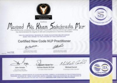 ITA New Code Certificate