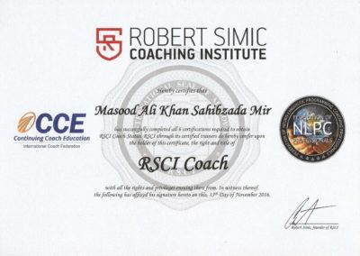 RSCI Coach Certificate
