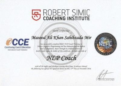 RSCI NLP Coach Certificate